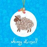 Fondo del vector del modelo de las ovejas Imágenes de archivo libres de regalías