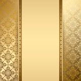 Fondo del vector del oro con el modelo del vintage Foto de archivo libre de regalías