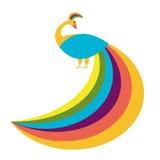Fondo del vector del pavo real Imágenes de archivo libres de regalías