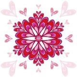 Fondo del vector del ` s de la tarjeta del día de San Valentín con los corazones estilizados Imagenes de archivo