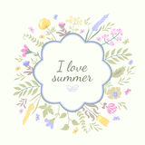 Fondo del vector del verano Libre Illustration