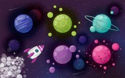 Fondo del vector Diseño del cosmos fotos de archivo libres de regalías