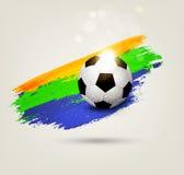 Fondo del vector en el tema del fútbol Fotografía de archivo libre de regalías
