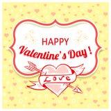 Fondo del vector para el día de tarjetas del día de San Valentín Imagen de archivo libre de regalías