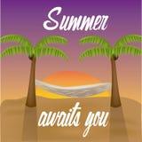 Fondo del verano Imágenes de archivo libres de regalías