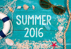 Fondo 2016 del verano Fotografía de archivo libre de regalías