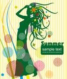 Fondo del verano Ilustración del Vector