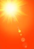 Fondo del verano con el sol magnífico del verano stock de ilustración