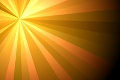 Fondo del verano con la explosión de la luz del sol del verano de los rayos del amarillo del broun imagen de archivo