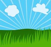 Fondo del verano con la hierba stock de ilustración