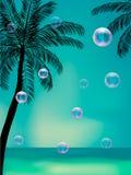 Fondo del verano con las burbujas transparentes libre illustration