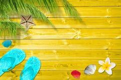 Fondo del verano con las palmeras Foto de archivo libre de regalías