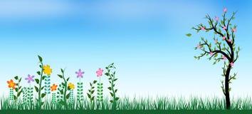 Fondo del verano de la primavera libre illustration