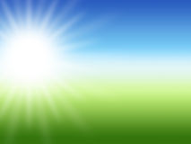 Fondo del verano del rayo de Sun Imagen de archivo libre de regalías