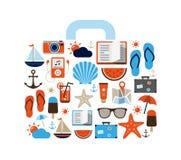 Fondo del verano - iconos Foto de archivo libre de regalías