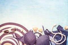 Fondo del verano La playa viste la opinión de set-top Fotografía de archivo
