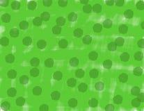 Fondo del verde de la acuarela del extracto con los puntos verde oscuro stock de ilustración