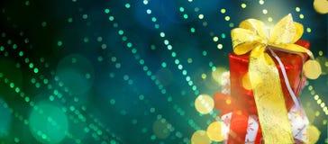Fondo del verde de la Navidad y del Año Nuevo Fotografía de archivo
