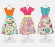 Fondo del vestito dall'annata illustrazione di stock