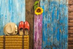 Fondo del viaje del verano Fotografía de archivo libre de regalías