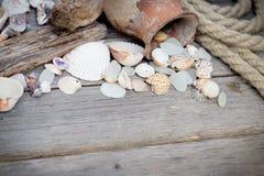 Fondo del viaje por mar Imagen de archivo