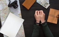Fondo del viaje, turismo y concepto de la pasión por los viajes Imagen de archivo