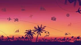 Fondo del viaje y de la señal del turismo libre illustration