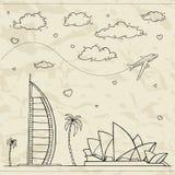 Fondo del viaje y del turismo. ilustración del vector
