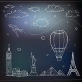 Fondo del viaje y del turismo stock de ilustración