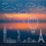Fondo del viaje y del turismo libre illustration