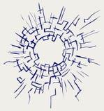 Fondo del vidrio agrietado Imagen de archivo
