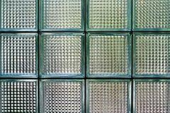 Fondo del vidrio del bloque cuadrado Imagen de archivo