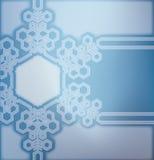 Fondo del vidrio esmerilado con los copos de nieve Foto de archivo libre de regalías
