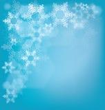 Fondo del vidrio esmerilado con los copos de nieve Imagen de archivo libre de regalías