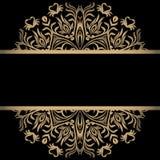 Fondo del vintage, antigüedad, ornamento del oro del victorian, marco barroco, papel viejo hermoso, tarjeta, página de cubierta a ilustración del vector