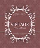 Fondo del vintage con el marco decorativo Plantilla elegante del elemento del diseño con el lugar para su texto Frontera floral r stock de ilustración