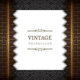 Fondo del vintage con las fronteras del oro Fotografía de archivo libre de regalías