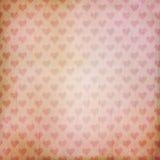 Fondo del vintage con los corazones Fotografía de archivo libre de regalías