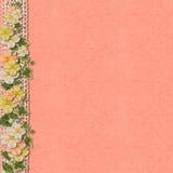 Fondo del vintage con una frontera de flores Imagen de archivo