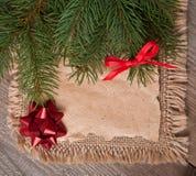 Fondo del vintage de la Navidad Foto de archivo