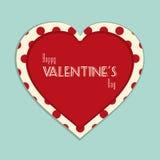 Fondo del vintage de la tarjeta del día de San Valentín Imagen de archivo libre de regalías