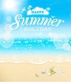 Fondo del vintage de las vacaciones de verano Stock de ilustración