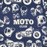 Fondo del vintage del grunge del club de Moto libre illustration
