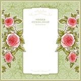 Fondo del vintage para la boda con las rosas libre illustration