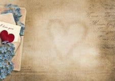 Fondo del vintage te amo Tarjeta de la tarjeta del día de San Valentín libre illustration