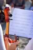 Fondo del violín Foto de archivo libre de regalías