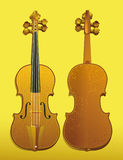Fondo del violino Fotografie Stock Libere da Diritti