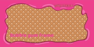 Fondo del wafer con la struttura rosa di gomma da masticare royalty illustrazione gratis