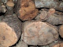Fondo del Woodpile Fotografía de archivo