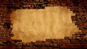 Fondo del yeso con enmarcar de la pared de ladrillo Imágenes de archivo libres de regalías